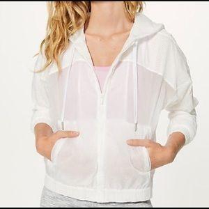 Lululemon Refined White Full Zip Jacket